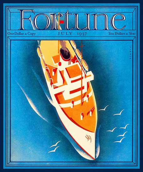Joseph Binder Fortune Magazine July 1937 Copyright | Fortune Magazine Graphic Art Covers 1930-1959