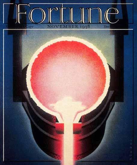 Joseph Binder Fortune Magazine November 1938 Copyright   Fortune Magazine Graphic Art Covers 1930-1959