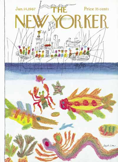 Joseph Low The New Yorker 1967_01_14 Copyright | The New Yorker Graphic Art Covers 1946-1970
