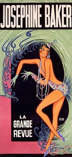Josephine Baker La Grande Revue Louis Gaudin | Sex Appeal Vintage Ads and Covers 1891-1970