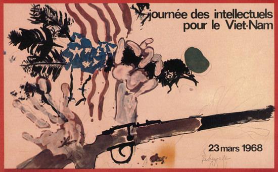 Journee Des Intellectuelles Pour Viet-Nam 1968 | Vintage War Propaganda Posters 1891-1970