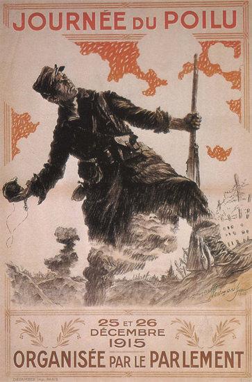 Journee Du Poilu France 1915 Day Of Combatant | Vintage War Propaganda Posters 1891-1970