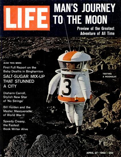 Journey to Moon Testing Moonsuit 27 Apr 1962 Copyright Life Magazine | Life Magazine Color Photo Covers 1937-1970