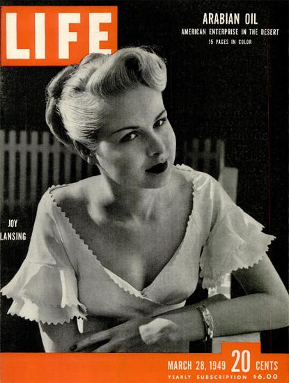 Joy Lansing 28 Mar 1949 Copyright Life Magazine | Life Magazine BW Photo Covers 1936-1970