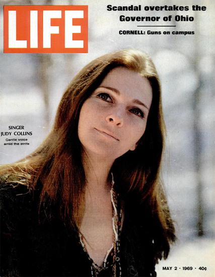 Judy Collins Wildflowers Both Sides 2 May 1969 Copyright Life Magazine | Life Magazine Color Photo Covers 1937-1970
