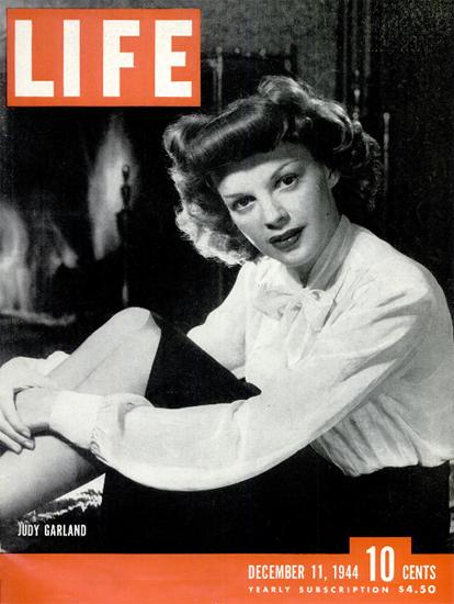 Judy Garland 11 Dec 1944 Copyright Life Magazine   Life Magazine BW Photo Covers 1936-1970