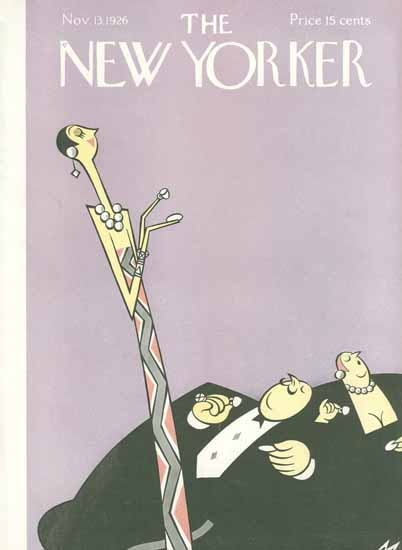 Julian De Miskey The New Yorker 1926_11_13 Copyright | The New Yorker Graphic Art Covers 1925-1945