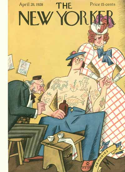 Julian De Miskey The New Yorker 1928_04_28 Copyright   The New Yorker Graphic Art Covers 1925-1945