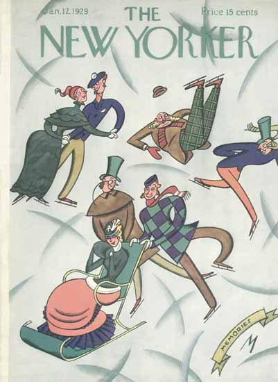 Julian De Miskey The New Yorker 1929_01_12 Copyright | The New Yorker Graphic Art Covers 1925-1945
