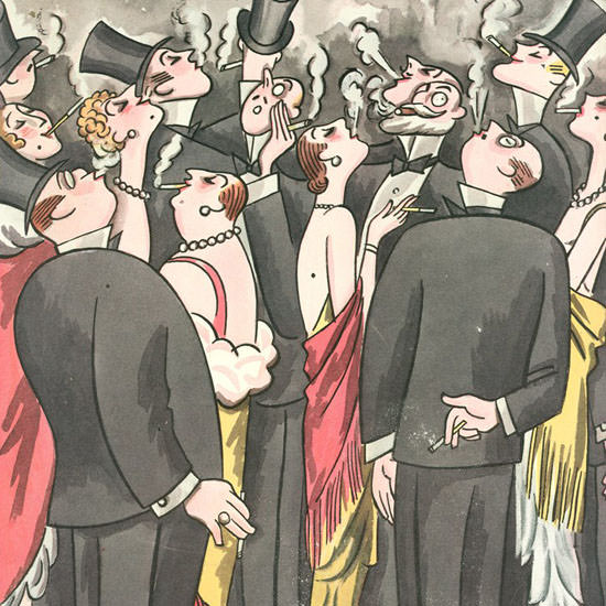 Julian De Miskey The New Yorker 1930_10_18 Copyright crop | Best of Vintage Cover Art 1900-1970