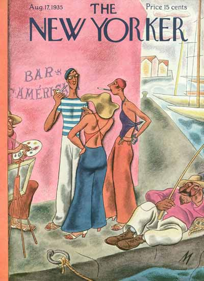 Julian De Miskey The New Yorker 1935_08_17 Copyright | The New Yorker Graphic Art Covers 1925-1945
