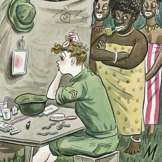 Julian De Miskey The New Yorker 1945_06_02 Copyright crop | Best of Vintage Cover Art 1900-1970