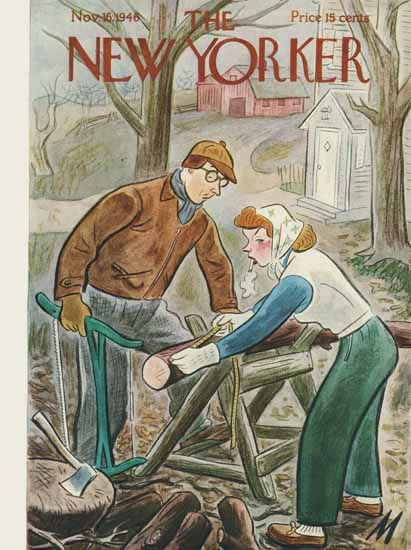 Julian De Miskey The New Yorker 1946_11_16 Copyright | The New Yorker Graphic Art Covers 1946-1970
