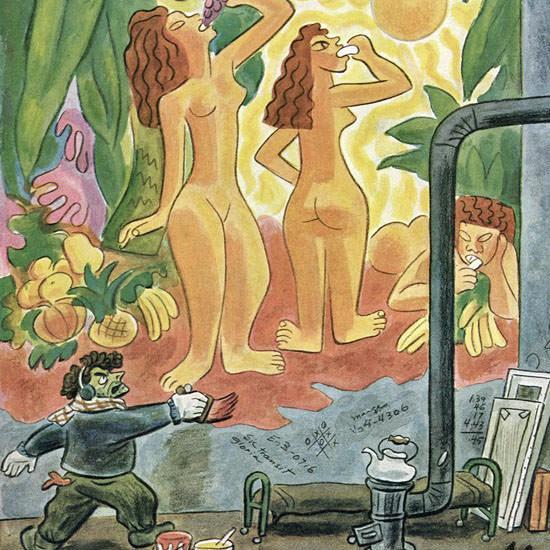 Julian De Miskey The New Yorker 1947_01_25 Copyright crop | Best of Vintage Cover Art 1900-1970