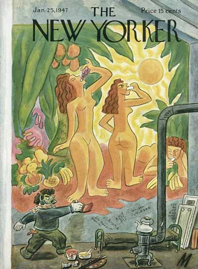 Julian De Miskey The New Yorker 1947_01_25 Copyright | The New Yorker Graphic Art Covers 1946-1970