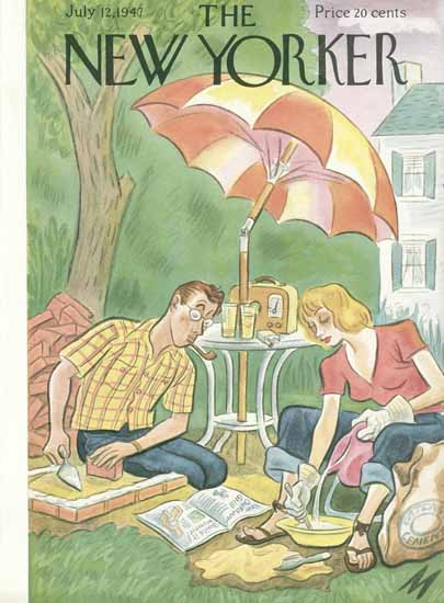 Julian De Miskey The New Yorker 1947_07_12 Copyright | The New Yorker Graphic Art Covers 1946-1970