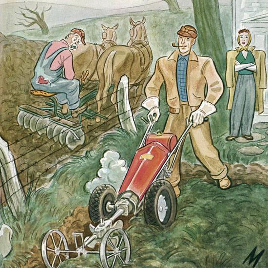 Julian De Miskey The New Yorker 1948_05_08 Copyright crop | Best of Vintage Cover Art 1900-1970