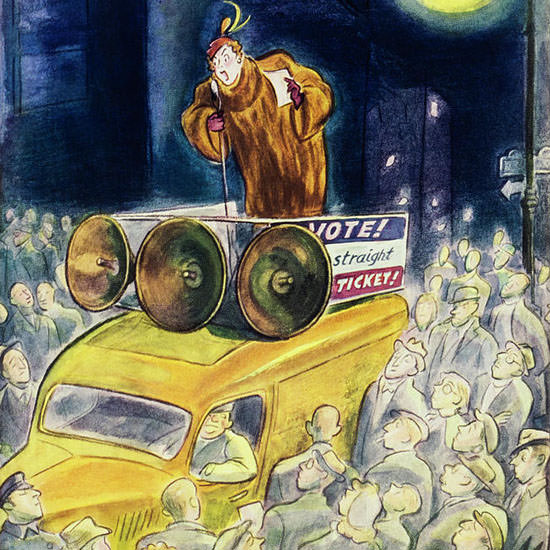 Julian De Miskey The New Yorker 1948_10_16 Copyright crop | Best of Vintage Cover Art 1900-1970