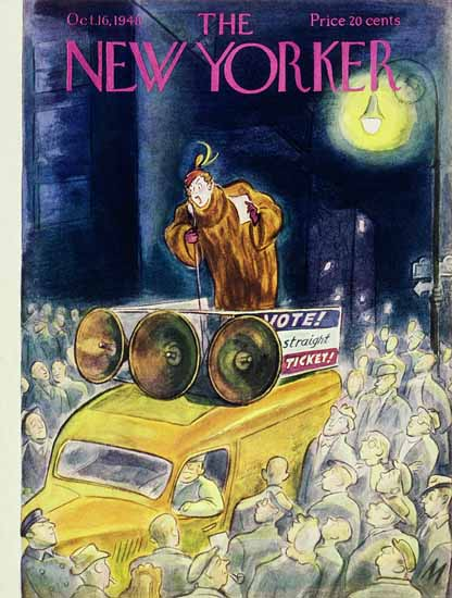 Julian De Miskey The New Yorker 1948_10_16 Copyright | The New Yorker Graphic Art Covers 1946-1970