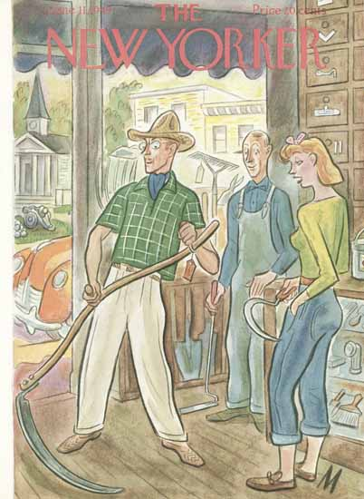 Julian De Miskey The New Yorker 1949_06_11 Copyright | The New Yorker Graphic Art Covers 1946-1970