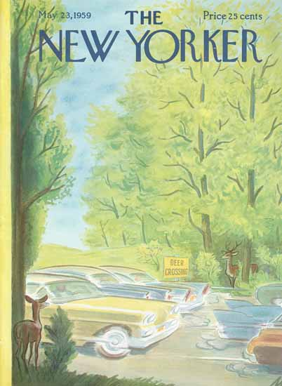 Julian De Miskey The New Yorker 1959_05_23 Copyright | The New Yorker Graphic Art Covers 1946-1970