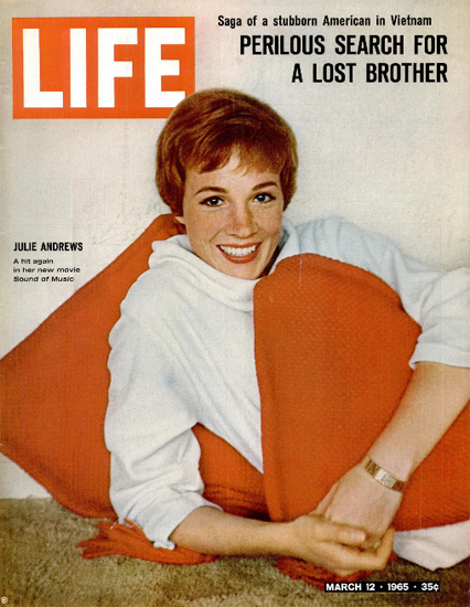Julie Andrews in Sound of Music 12 Mar 1965 Copyright Life Magazine | Life Magazine Color Photo Covers 1937-1970