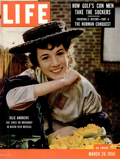 Julie Andrews sings on Broadway 26 Mar 1956 Copyright Life Magazine | Life Magazine Color Photo Covers 1937-1970
