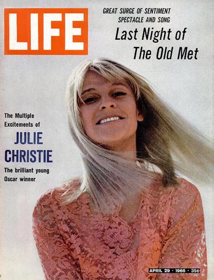 Julie Christie wins Oscar for Darling 29 Apr 1966 Copyright Life Magazine | Life Magazine Color Photo Covers 1937-1970