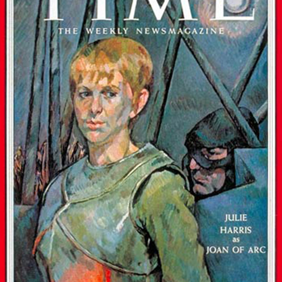 Julie Harris Time Magazine 1955-11 by Henry Koerner crop | Best of Vintage Cover Art 1900-1970
