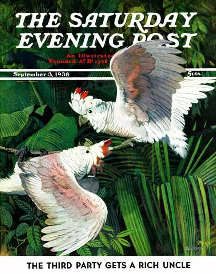Julius Moessel Saturday Evening Post Cover 1938_09_03 | The Saturday Evening Post Graphic Art Covers 1931-1969