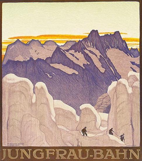 Jungfrau-Bahn Jungfrau Mountain Railway | Vintage Travel Posters 1891-1970