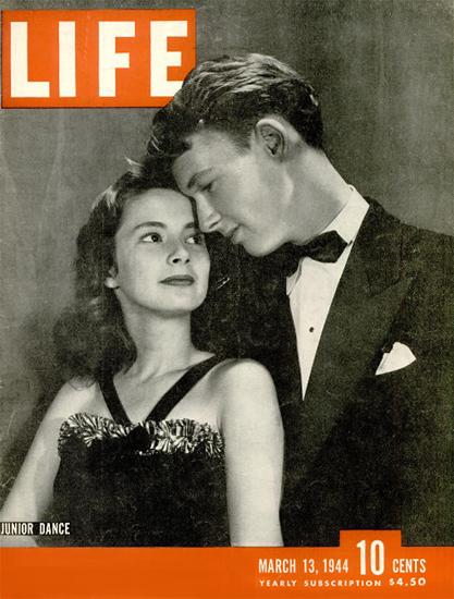 Junior Dance 13 Mar 1944 Copyright Life Magazine | Life Magazine BW Photo Covers 1936-1970