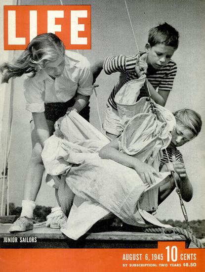 Junior Sailors 6 Aug 1945 Copyright Life Magazine | Life Magazine BW Photo Covers 1936-1970