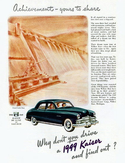 Kaiser DeLuxe Sedan 1949 Drive And Find Out | Vintage Cars 1891-1970