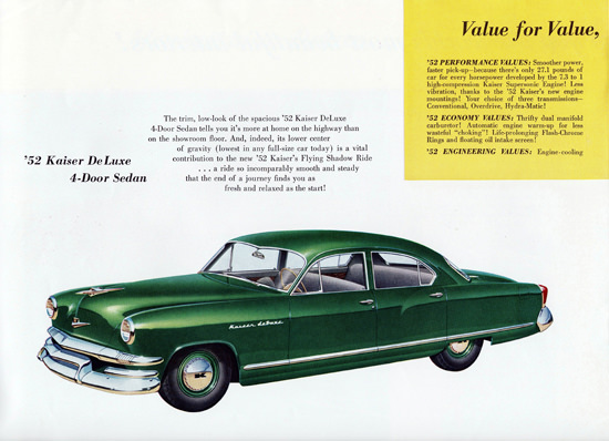 Kaiser DeLuxe Sedan 1952 Flying Shadow | Vintage Cars 1891-1970