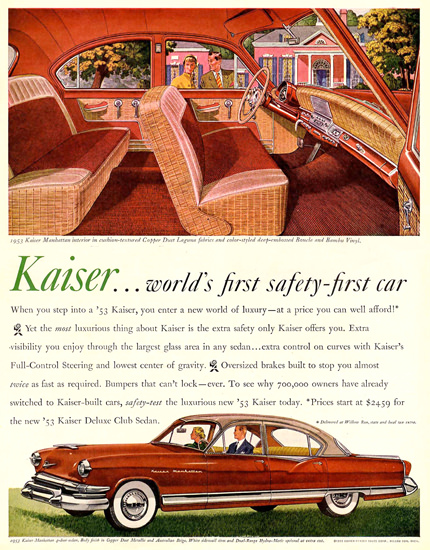 Kaiser Delux Club Sedan 1953 Manhattan Interior | Vintage Cars 1891-1970