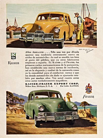Kaiser Frazer 1947 Body By Darrin | Vintage Cars 1891-1970