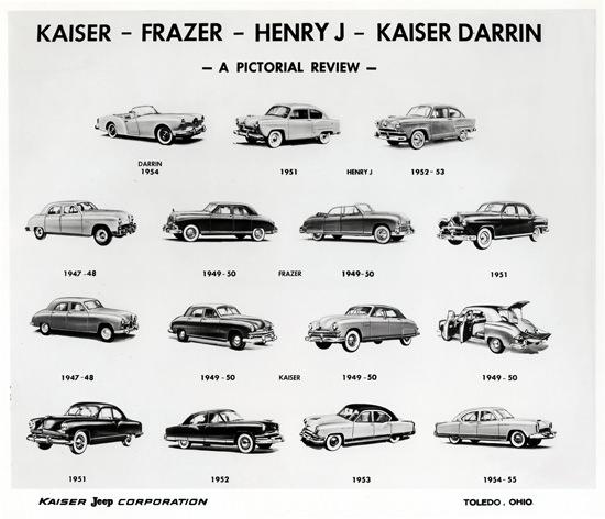 Kaiser Frazer Evolution 1947 To 1955   Vintage Cars 1891-1970
