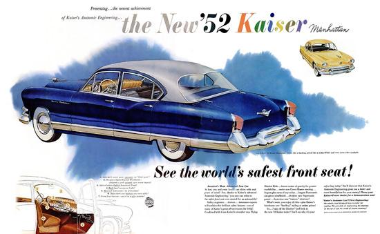 Kaiser Manhatten 1952 World Safest Front Seat | Vintage Cars 1891-1970