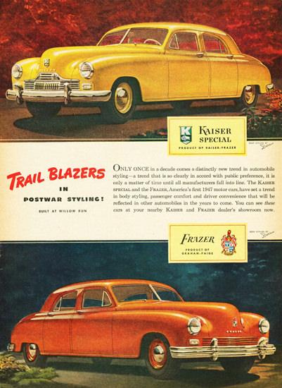 Kaiser Special And Frazer Sedans 1947 | Vintage Cars 1891-1970