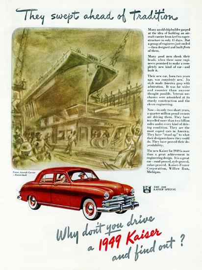 Kaiser Special Sedan 1949 Swept Ahead | Vintage Cars 1891-1970