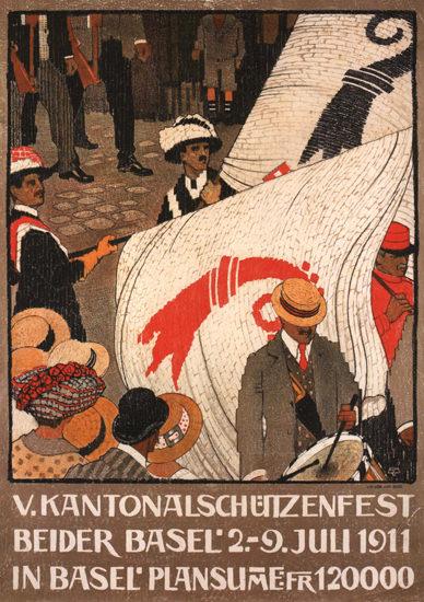 Kantonalschuetzenfest Beider Basel 1911 | Vintage Ad and Cover Art 1891-1970