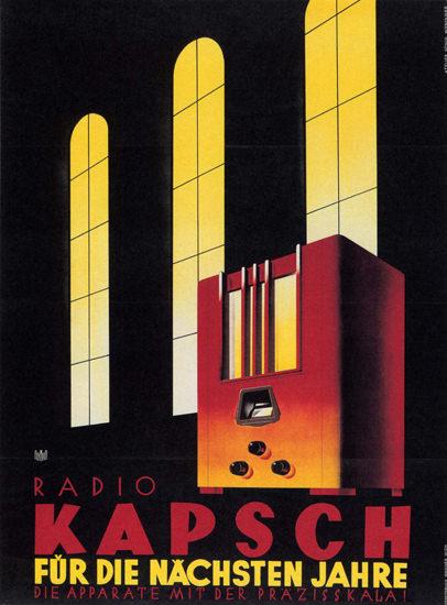 Kapsch Radio Fuer Die Naechsten Jahre Austria | Vintage Ad and Cover Art 1891-1970