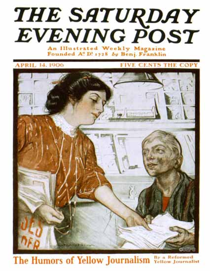 Karl Anderson Saturday Evening Post Cover 1906_04_14 | The Saturday Evening Post Graphic Art Covers 1892-1930