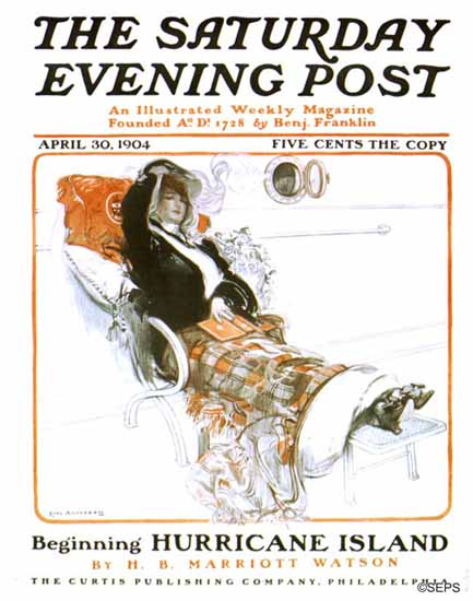 Karl Anderson Saturday Evening Post Cover Art 1904_04_30 | The Saturday Evening Post Graphic Art Covers 1892-1930