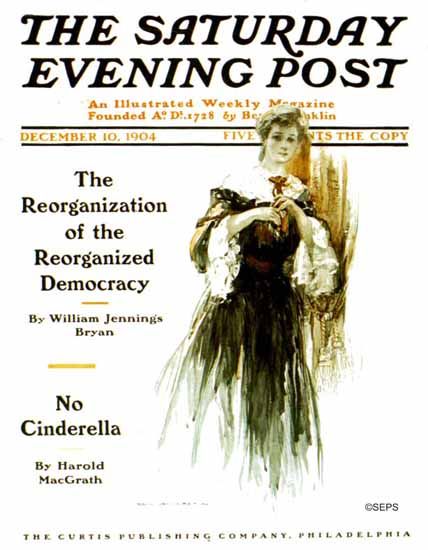 Karl Anderson Saturday Evening Post Cover Art 1904_12_10 | The Saturday Evening Post Graphic Art Covers 1892-1930