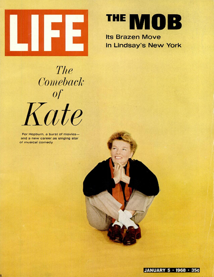 Katharine Hepburn Coming to Dinner 5 Jan 1968 Copyright Life Magazine | Life Magazine Color Photo Covers 1937-1970
