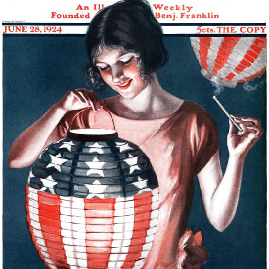 Katharine R Wireman Saturday Evening Post 1924_06_28 Copyright crop | Best of Vintage Cover Art 1900-1970