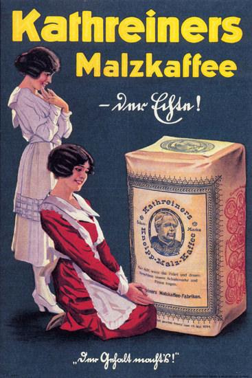 Kathreiners Malzkaffee Malt Coffee Substitute | Vintage Ad and Cover Art 1891-1970
