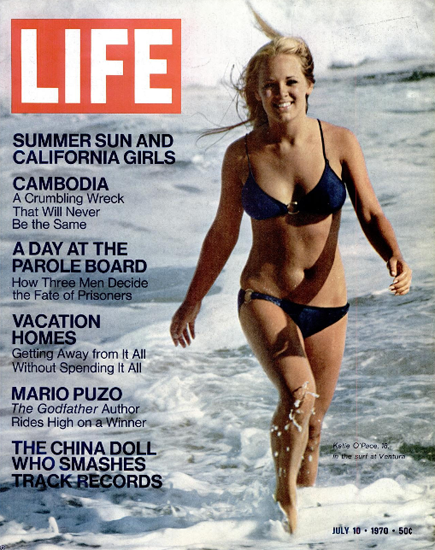 Katie OPace California Girl at Ventura 10 Jul 1970 Copyright Life Magazine | Life Magazine Color Photo Covers 1937-1970